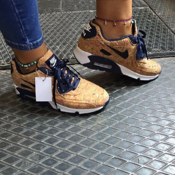new style 99c0d fb9c1 shoes nike air max 90 nike sneakers beige nike shoes air max nike air  custom custom