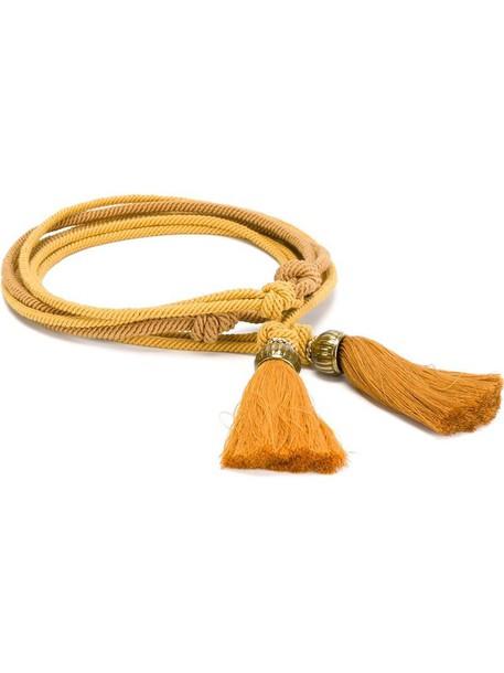 Lanvin tasseled rope belt in orange / yellow