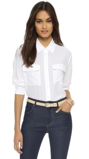 Equipment blouse white bright top
