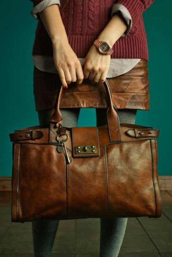 Borse Pelle Vintage : Fossil? handbag collections vintage re issue women
