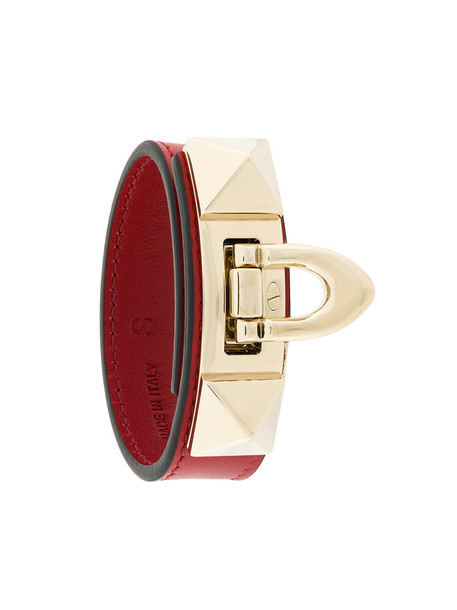 Valentino women leather red jewels