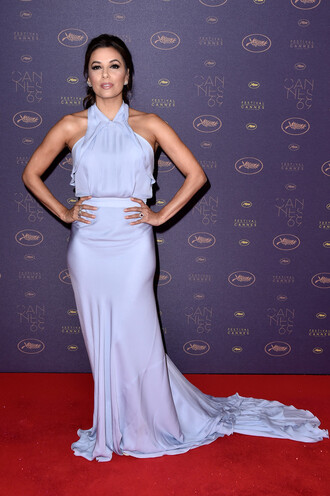 dress gown lavender prom dress eva longoria long prom dress long dress red carpet dress cannes