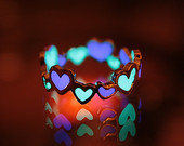 GLOW in the DARK Hearts Ring von Papillon9 auf Etsy