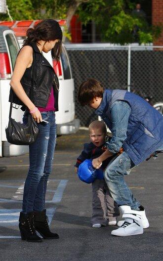 shoes selena gomez jeans hat jacket