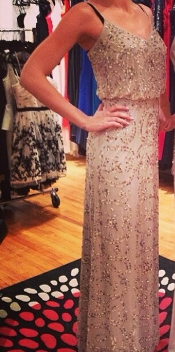 buy adrianna papell beaded maxi dress nude online at john