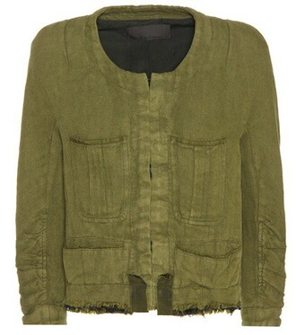 jacket cropped jacket cropped cotton green