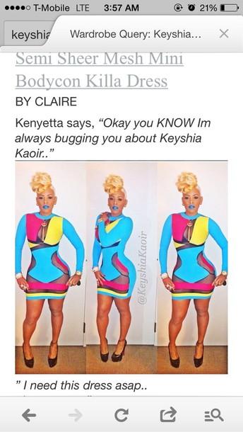 dress keyshia kaoir bodycon colorful dress