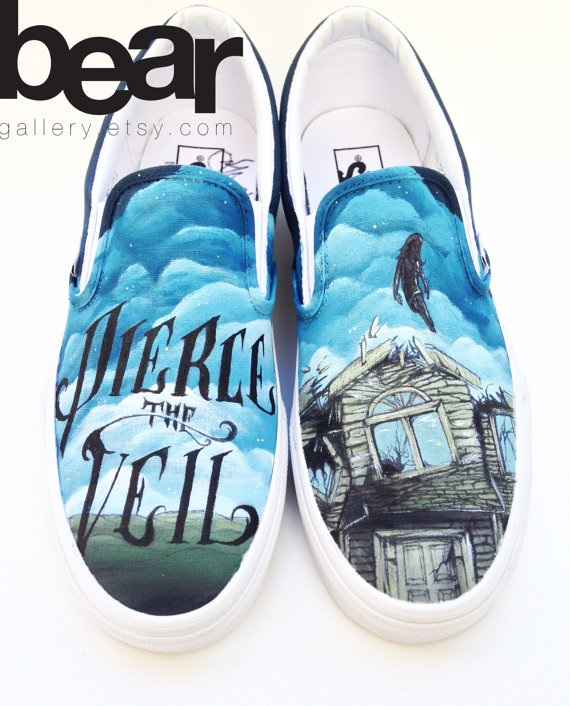 Custom vans hand painted shoes pierce the veil by beargallery