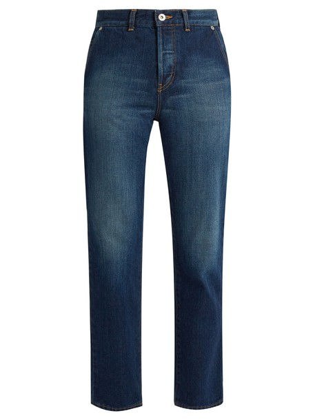 muveil jeans cropped jeans bow cropped blue