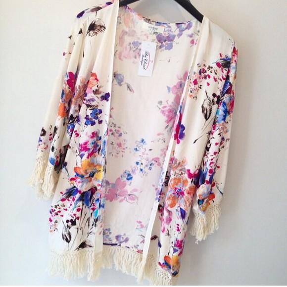 kimono cardigan floral kimono hippie