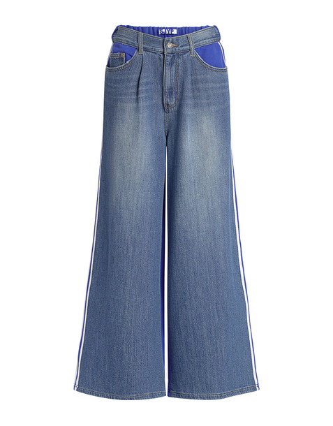 Sjyp Isko Premium Jersey Mix Wide-leg Jeans Denim/blue