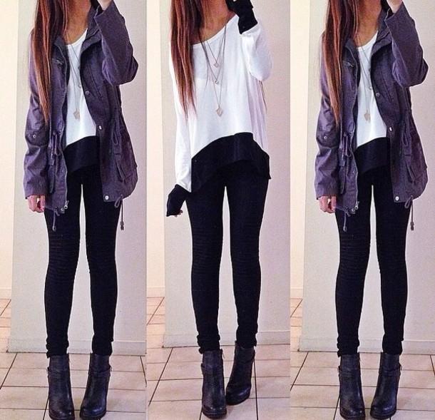 cardigan shirt jacket blouse purple jacket navy style fashion tumblr outfit top white one shoulder