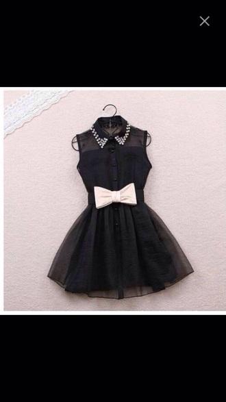 dress black dress bow dress bows bow tie dress jewls jewels jems