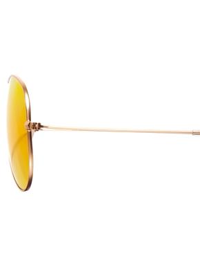 Ray-Ban | Ray-Ban – Verspiegelte Pilotensonnenbrille in Orange bei ASOS