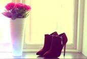 shoes,red,heels,zip