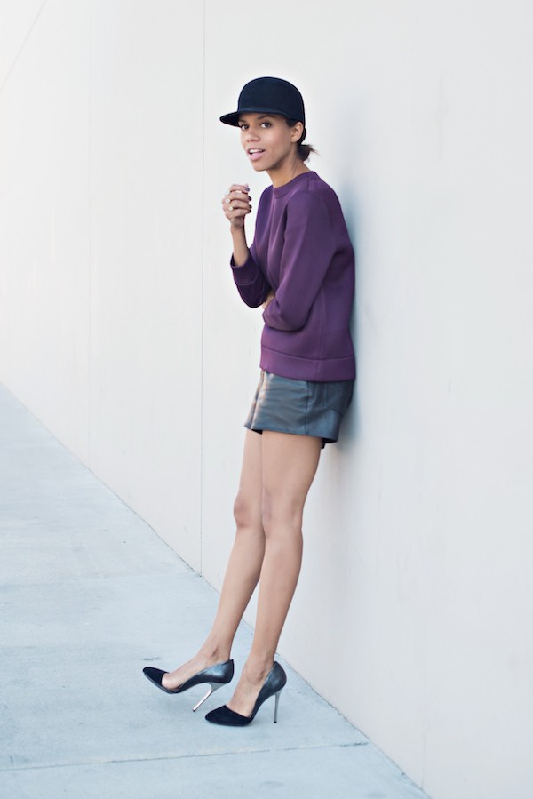 style me grasie blogger jewels leather shorts