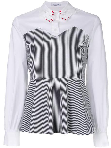 Vivetta - statement collared peplum shirt - women - Cotton - 40, White, Cotton