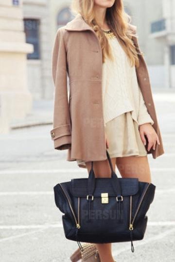 Mini Type Double Zipper Handbag [FPB472] - PersunMall.com