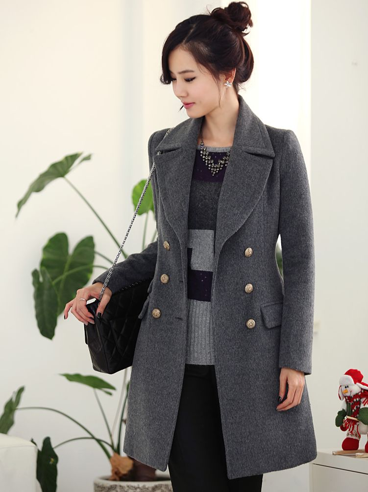 New Stylish Designer's Long Coat on Luulla