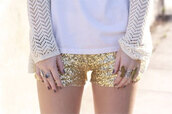 gold sequins,sequins,shorts,jacket