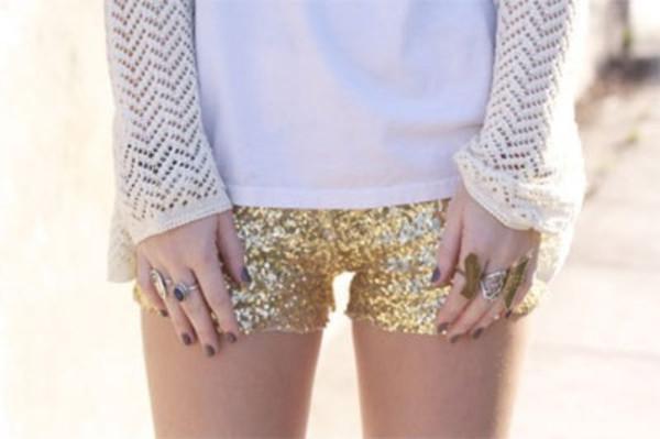 gold sequins sequins shorts jacket