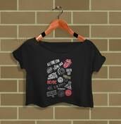 top,crop tops,fashion,shirt,t-shirt,music,womens clothing