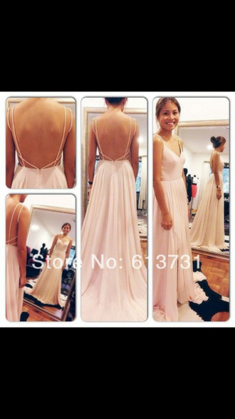 pink dress prom dress long dresses long dress long prom dress maxi dress backless dress