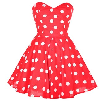 dress polka dots red red dress clothes minnie mouse teen poka dot poka dots cute dress cute red polkadot