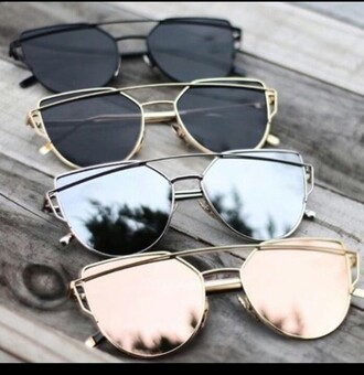 sunglasses black silver gold rose gold