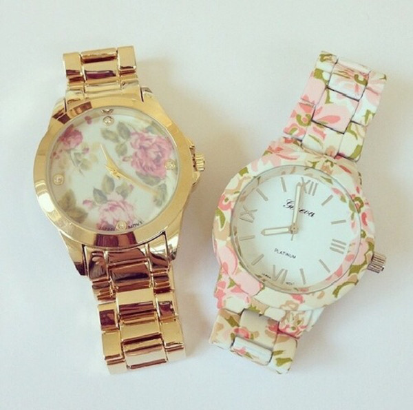 jewels watch watch accessories jewelry gold flowers