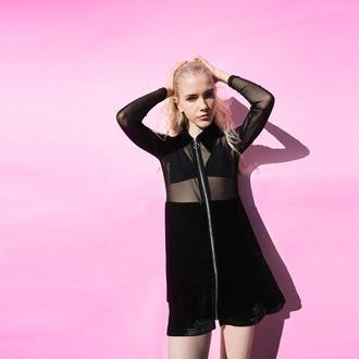 jacket black sheer hot