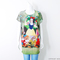 Women's snow white animal cat printed graphic t shirt long top dress s m l | ebay