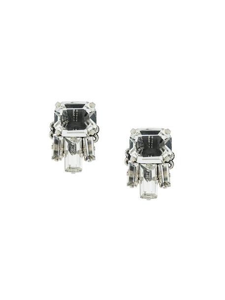 RADÀ women embellished earrings stud earrings grey metallic jewels