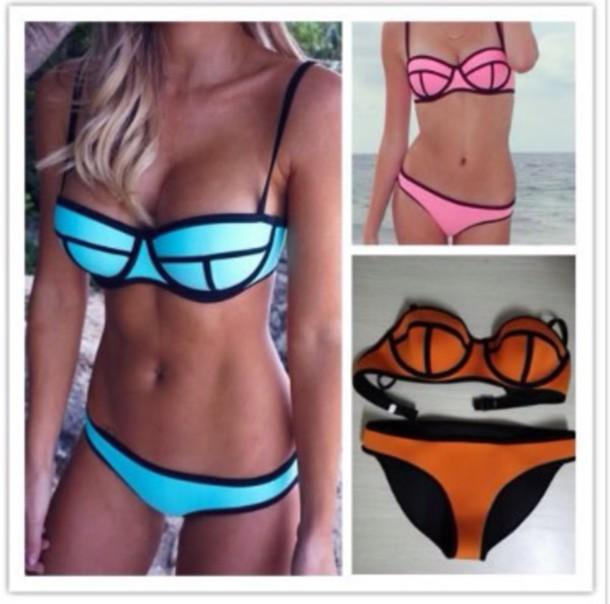 swimwear turquoise bikini