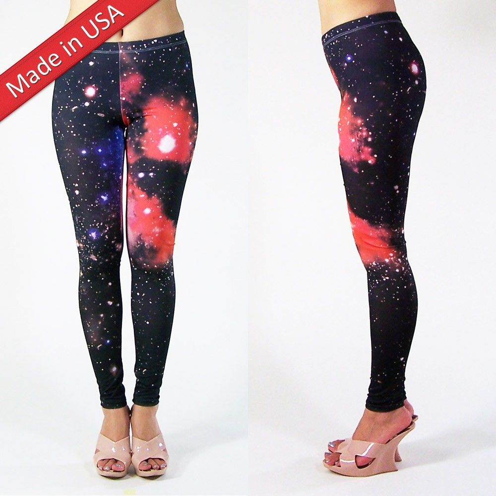 2014 sexy galaxy space nebula cosmic print tights leggings hot pants made in usa