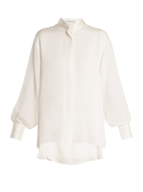 Amanda Wakeley shirt silk cream top