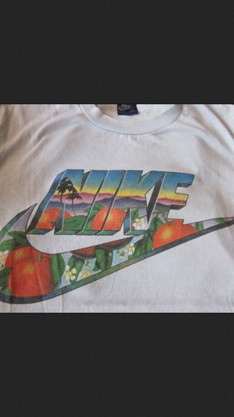 t-shirt nike floral jungle leaves nike design nike sb tick vest cute summer skateboard nike clothing blouse