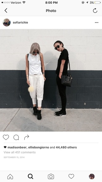 pants white pants sofia richie