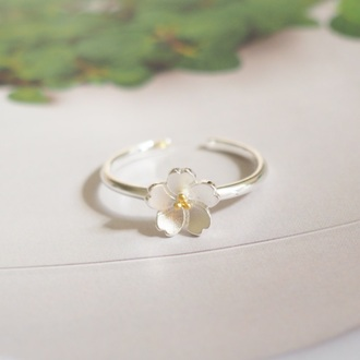 jewels summer summer handcraft flowers flower ring knuckle ring ring armor ring engagement ring silver ring sterling silver floral gift ideas lovely gift girlfriend gift best gifts