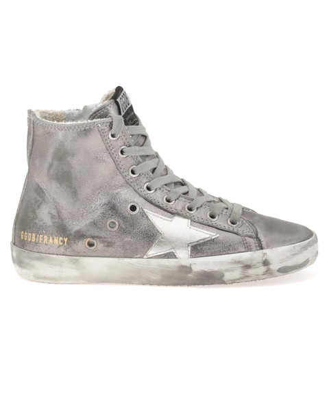 Golden goose dark silver white shoes