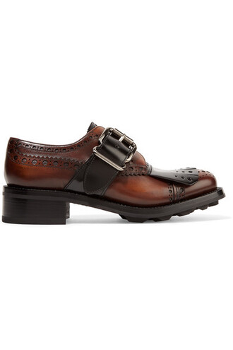 dark leather brown shoes