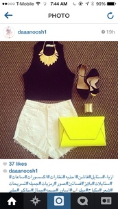 bag,neon,yellow,clutch