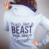sweater,training beauty beast hoodie,workout,cute sweaters,jacket