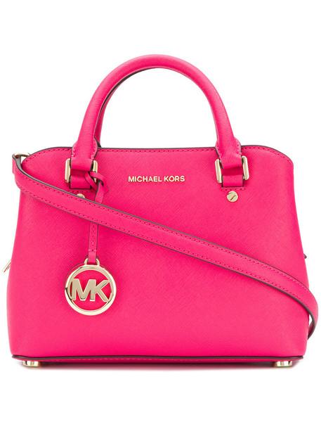 MICHAEL Michael Kors satchel women bag satchel bag leather purple pink