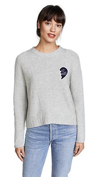 Rails sweater friends grey heather grey