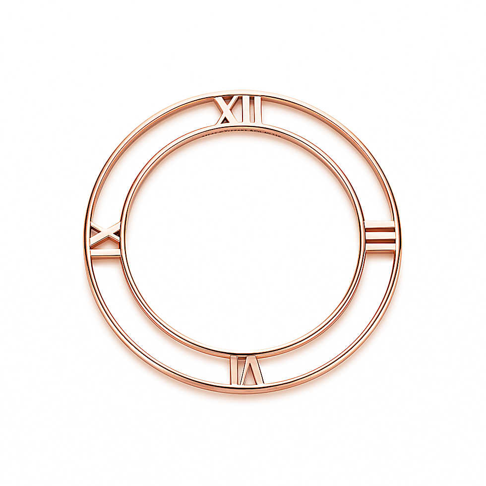 Atlas® bangle in 18k rose gold, medium.               
