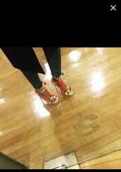 shoes,high heel sandals,multicolor