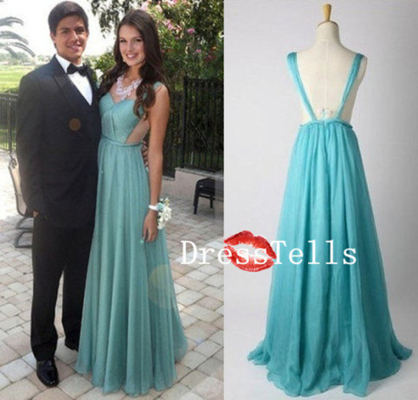 dress prom dress prom dress long prom dress promn dress long prom dress chiffon dress open back dresses empire dress elegant dress mint dress backless dress homecoming dress mint fashion style gown prom vanessawu