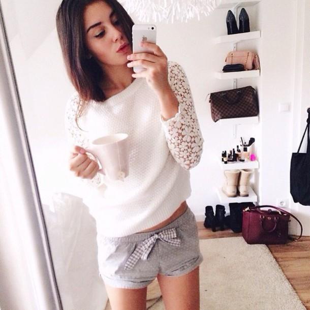 sweater белый свитер белый мечты вязать свитер кружево blouse