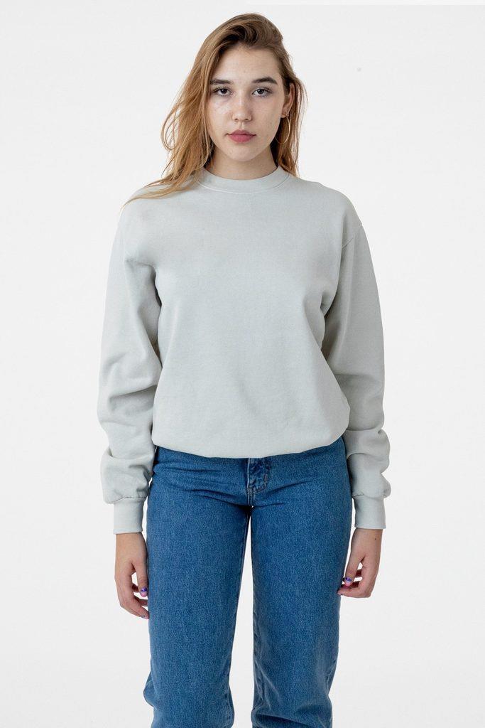 HF07GD Unisex - 14oz. Garment Dye Heavy Fleece Pullover Crewneck Sweatshirt